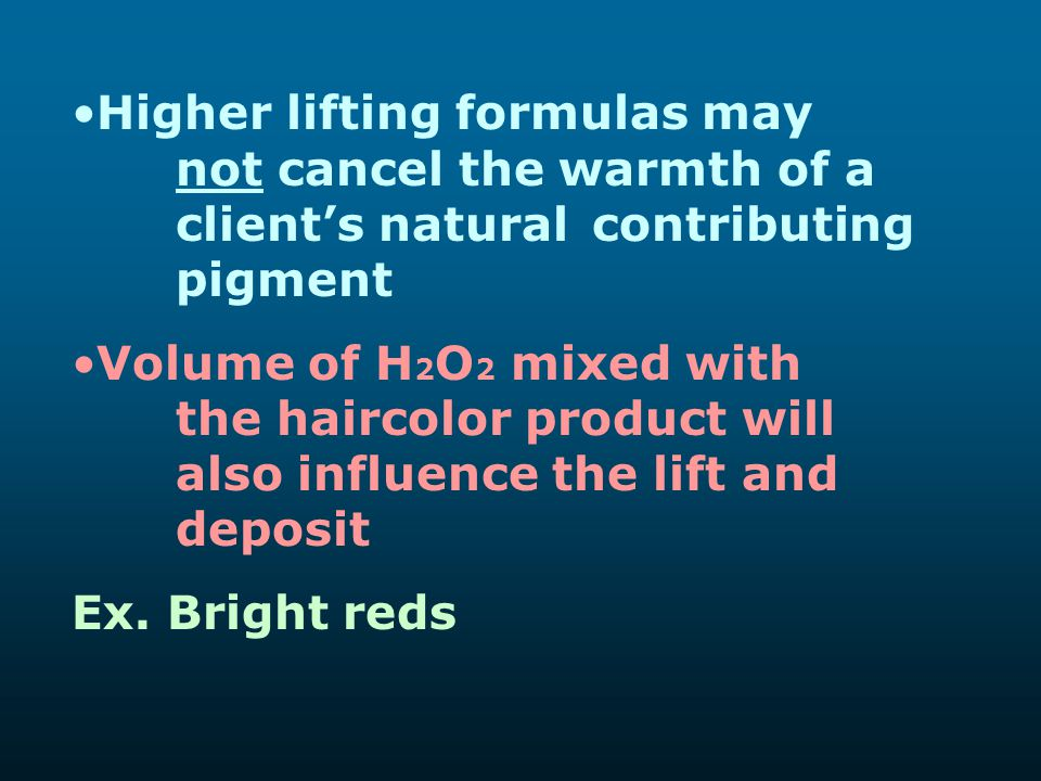 Higher lifting formulas may. not cancel the warmth of a