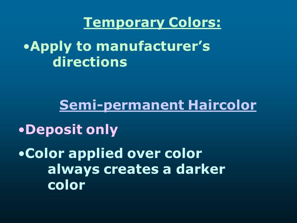 Semi-permanent Haircolor