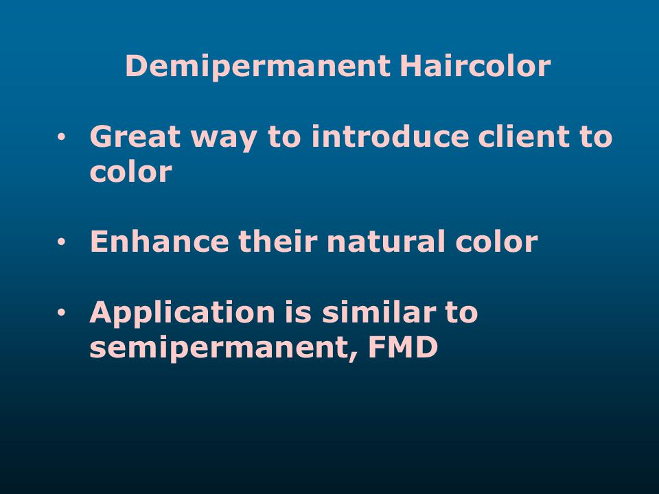 Demipermanent Haircolor