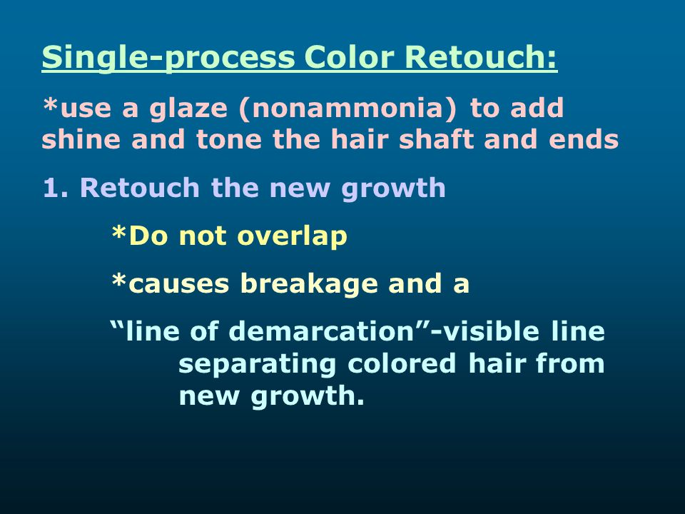 Single-process Color Retouch: