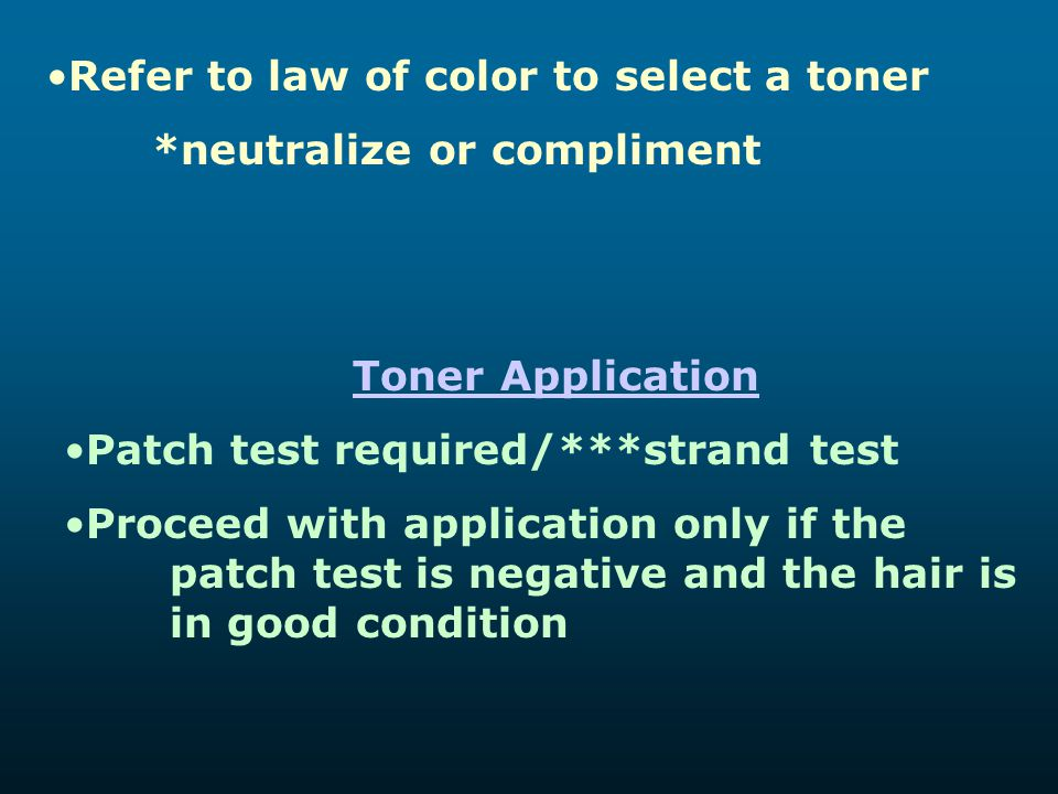 Refer to law of color to select a toner