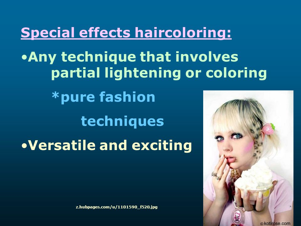 Special effects haircoloring: