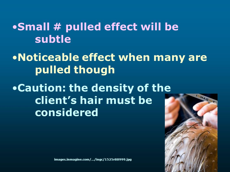 Small # pulled effect will be subtle