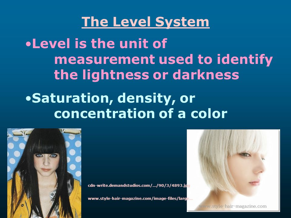 Saturation, density, or concentration of a color