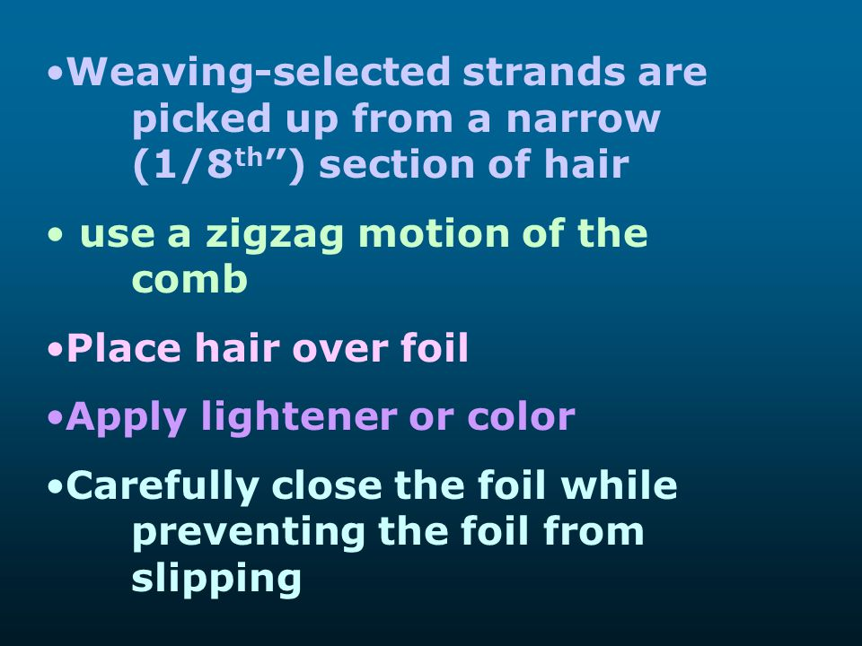 Weaving-selected strands are. picked up from a narrow