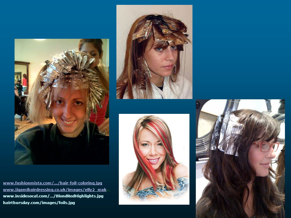 www.fashionmista.com/.../hair-foil-coloring.jpg www.jigamihairdressing.co.uk/images/elly2_mak... www.insidesocal.com/.../BlondRedHighlights.jpg.