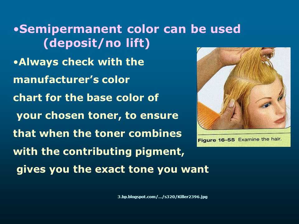 Semipermanent color can be used (deposit/no lift)