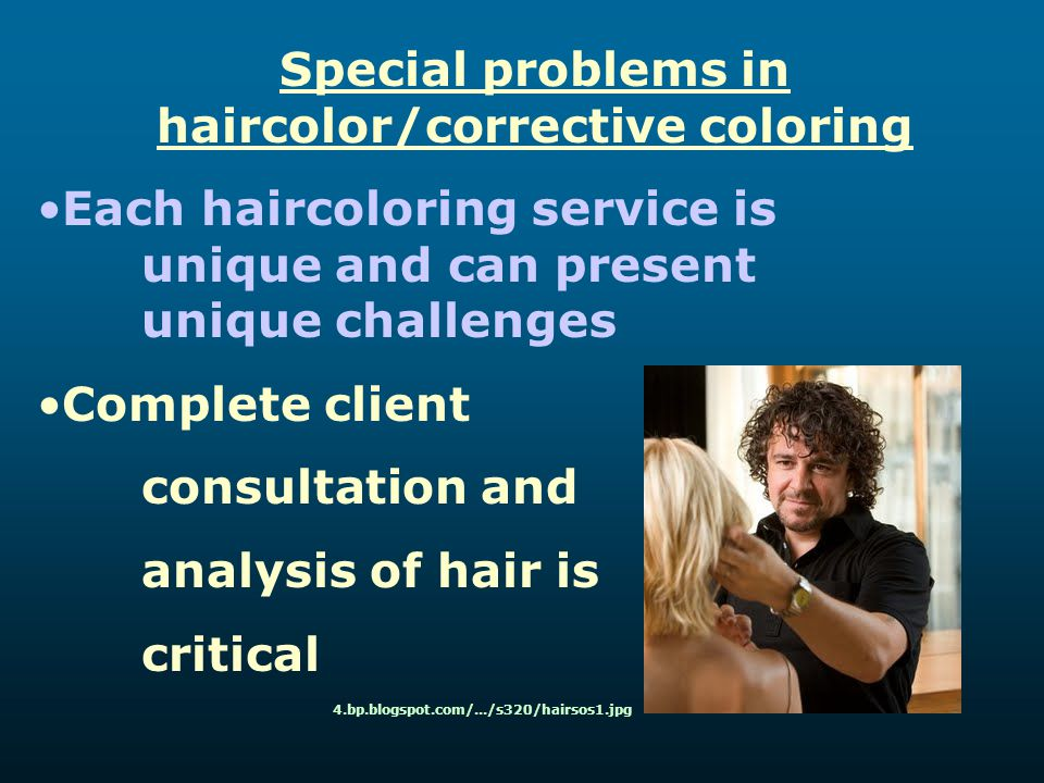 Special problems in haircolor/corrective coloring