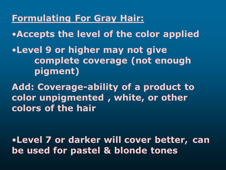 Formulating For Gray Hair: