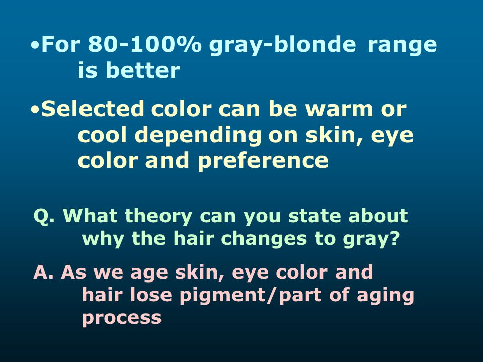For 80-100% gray-blonde range is better