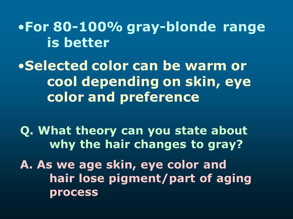 For 80-100% gray-blonde range is better