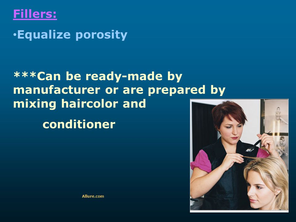 Fillers: Equalize porosity