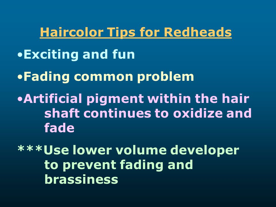 Haircolor Tips for Redheads