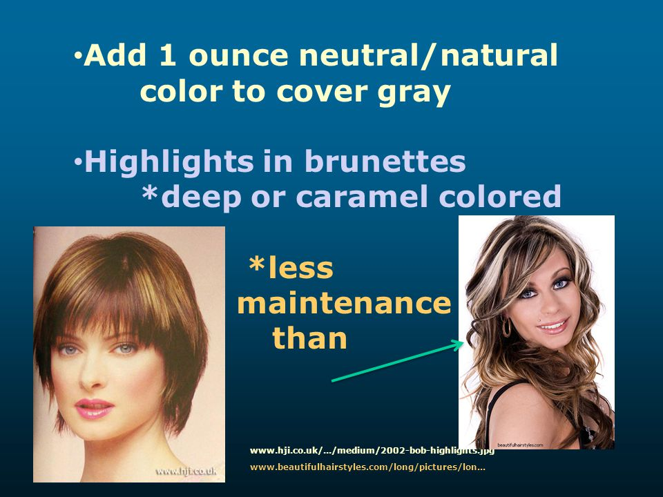 Add 1 ounce neutral/natural color to cover gray