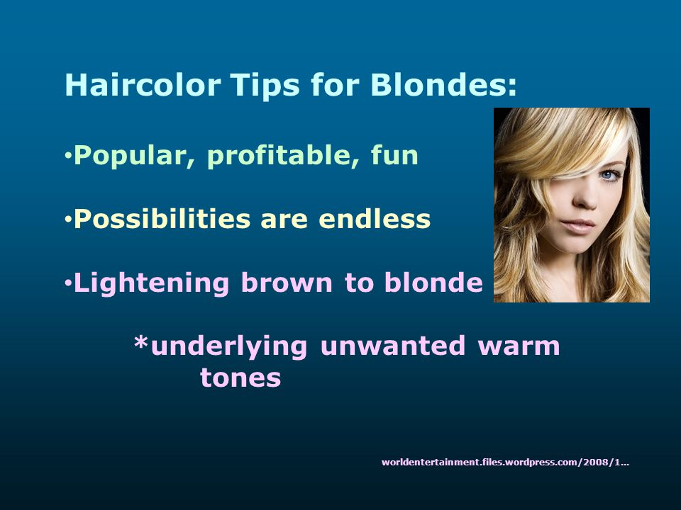 Haircolor Tips for Blondes: