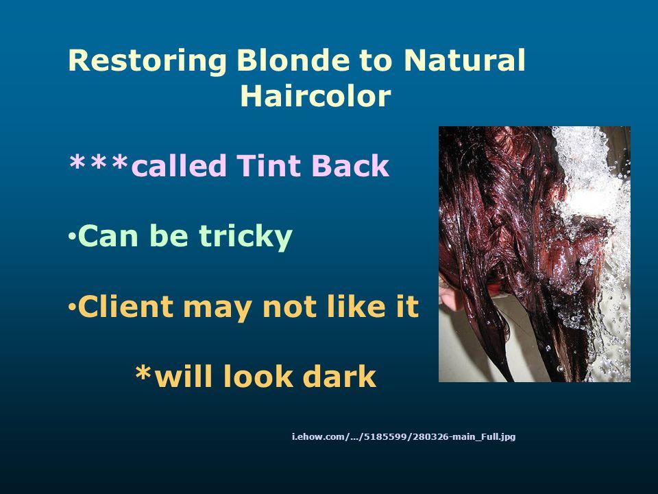 Restoring Blonde to Natural Haircolor