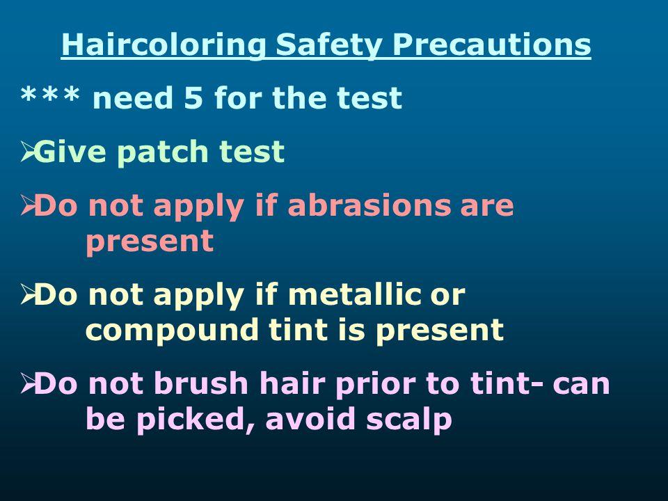 Haircoloring Safety Precautions