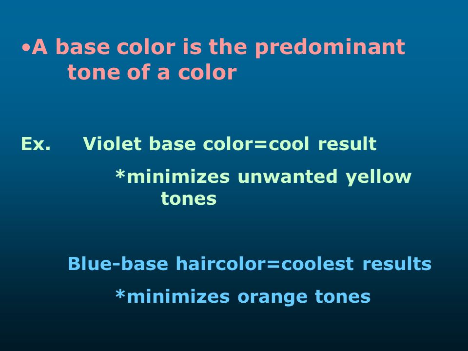 A base color is the predominant tone of a color