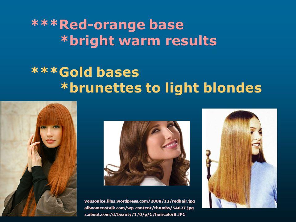 *brunettes to light blondes