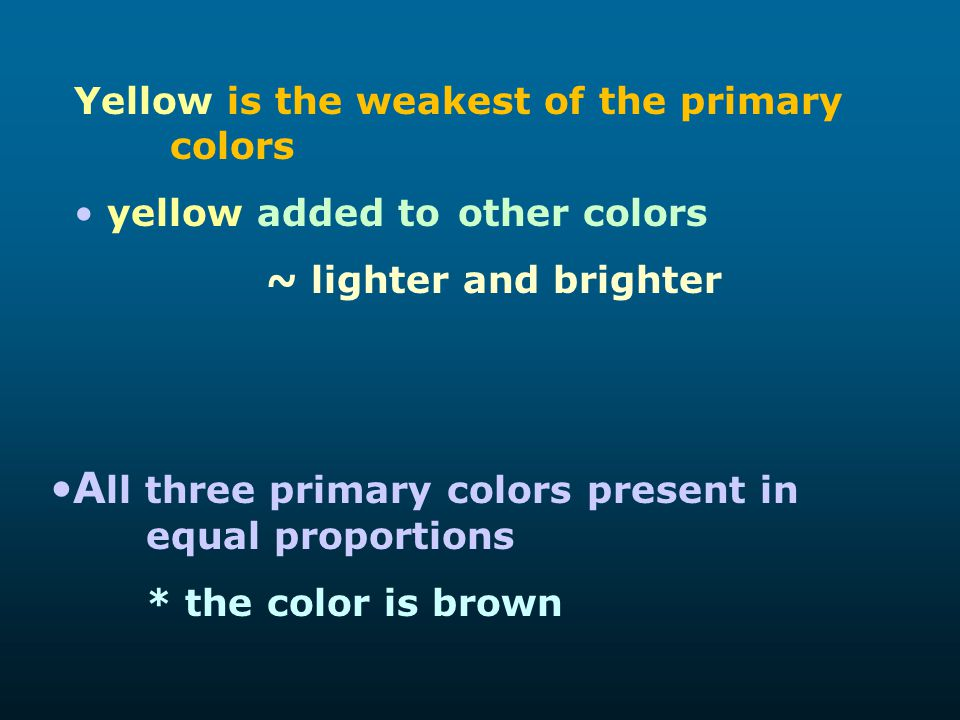 All three primary colors present in equal proportions