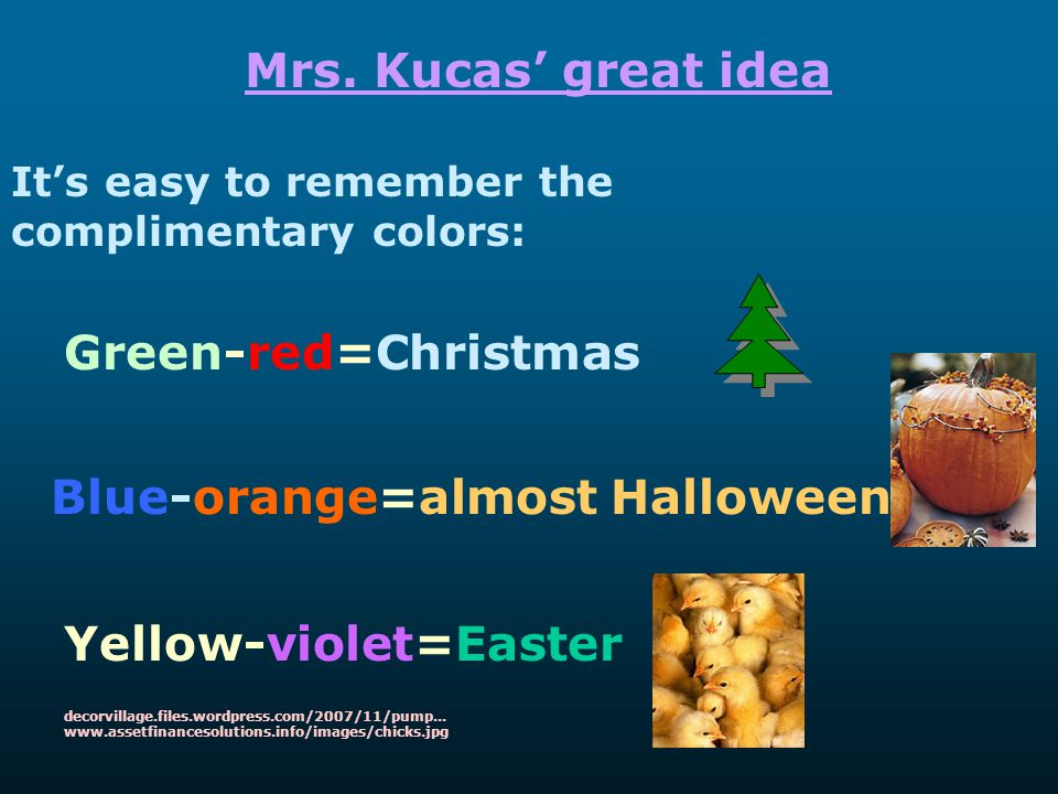 Blue-orange=almost Halloween