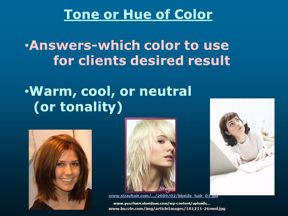 Answers-which color to use for clients desired result