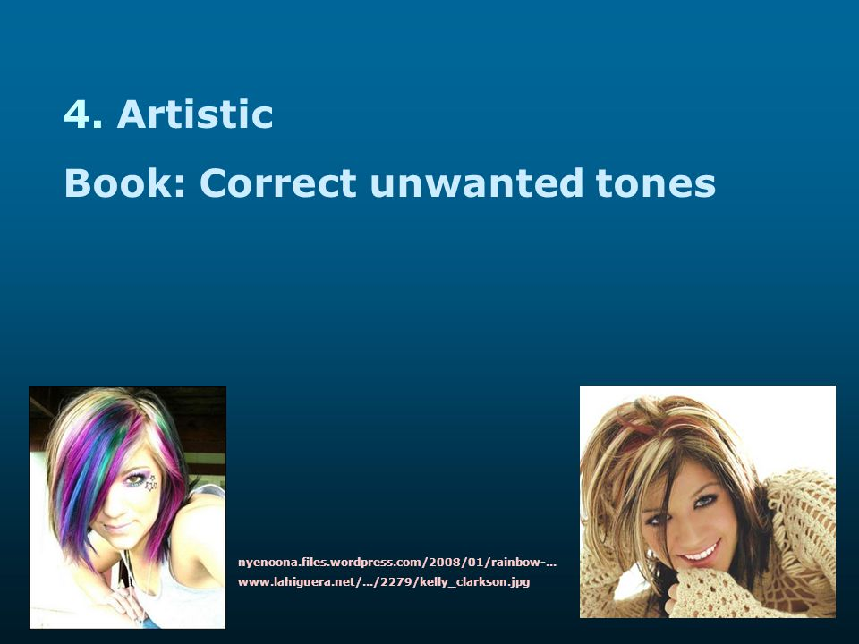 Book: Correct unwanted tones