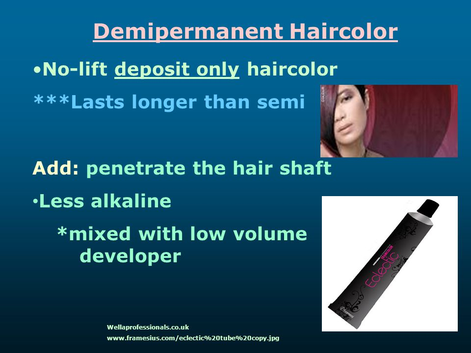 Demipermanent Haircolor