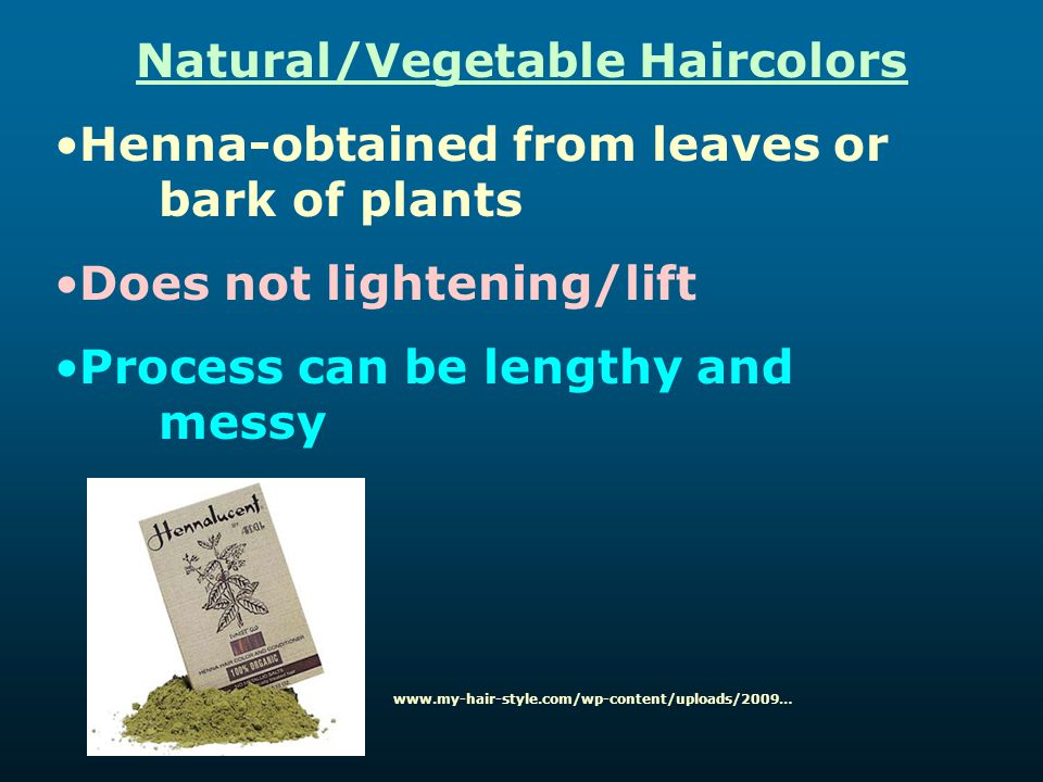 Natural/Vegetable Haircolors