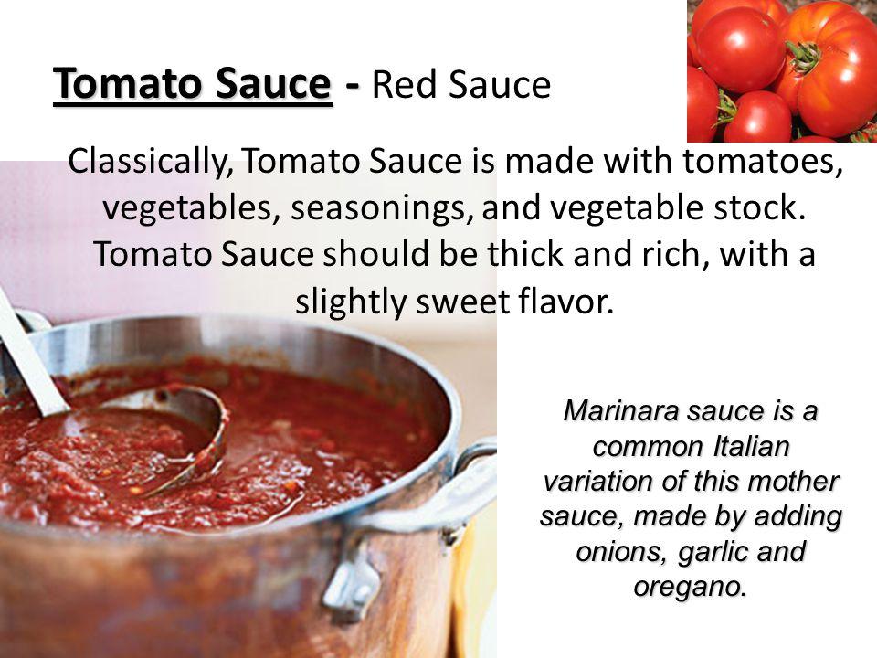 Tomato Sauce - Red Sauce