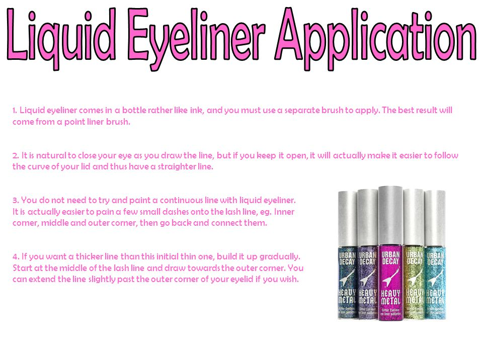 Liquid Eyeliner Application