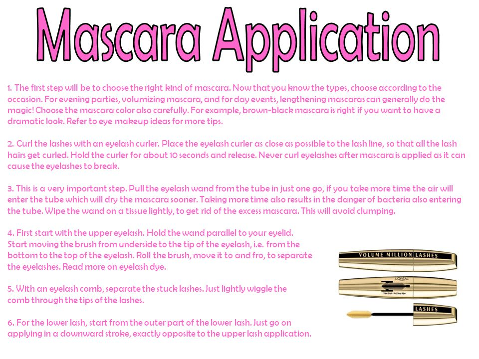 Mascara Application