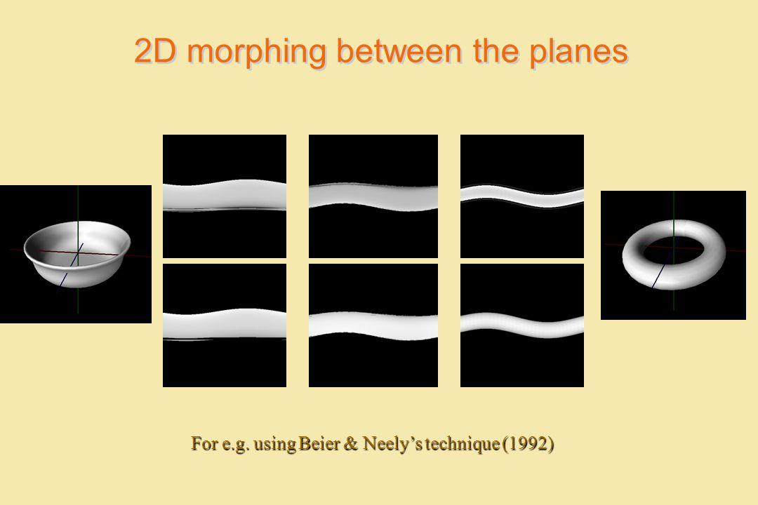 2D morphing between the planes