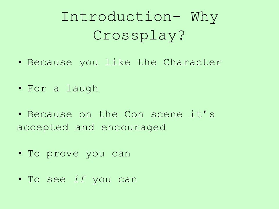 Introduction- Why Crossplay