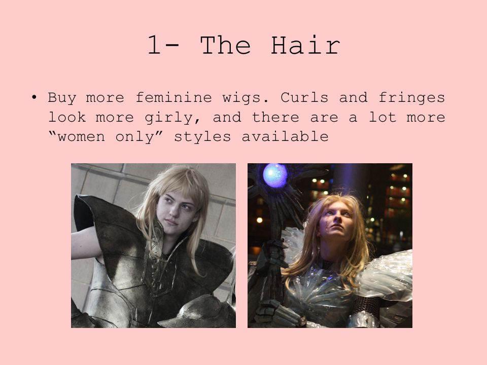 1- The Hair Buy more feminine wigs.