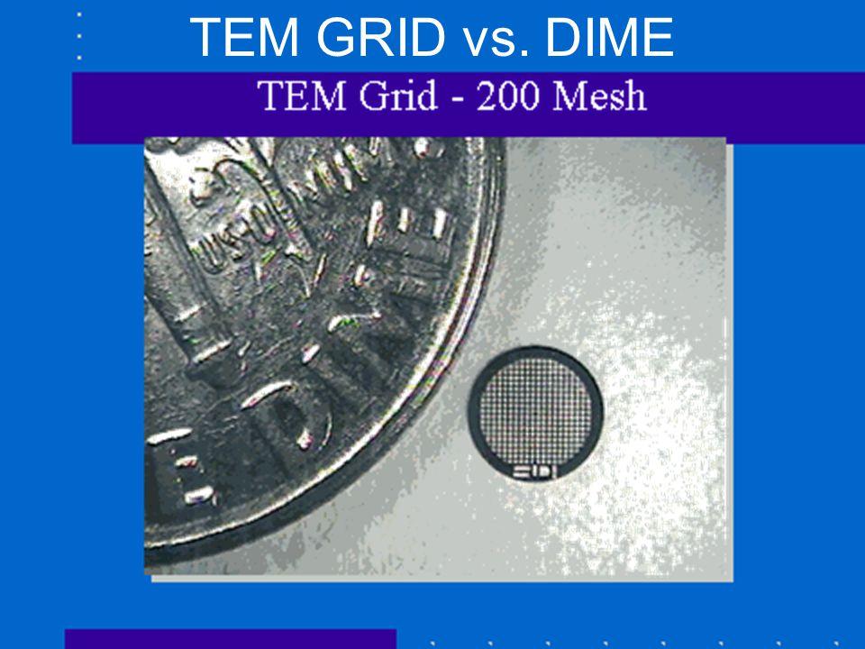TEM GRID vs. DIME OU NanoLab/NSF NUE/Bumm & Johnson