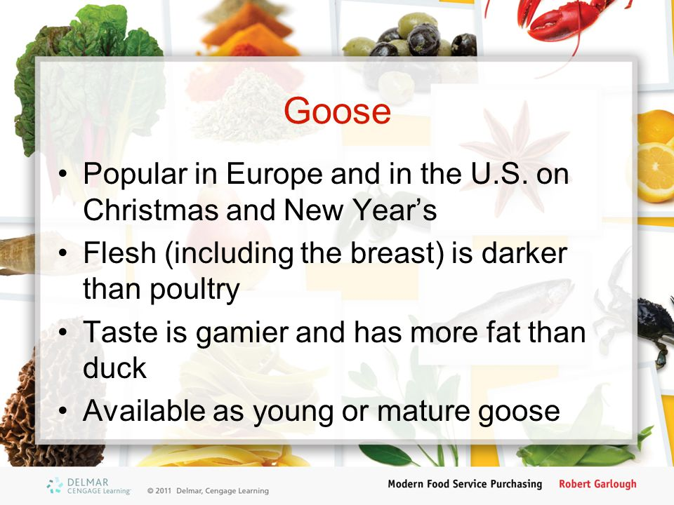 Goose Popular in Europe and in the U.S. on Christmas and New Year's