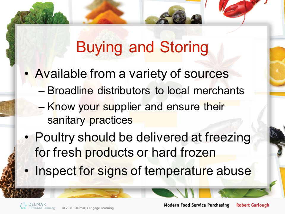Buying and Storing Available from a variety of sources