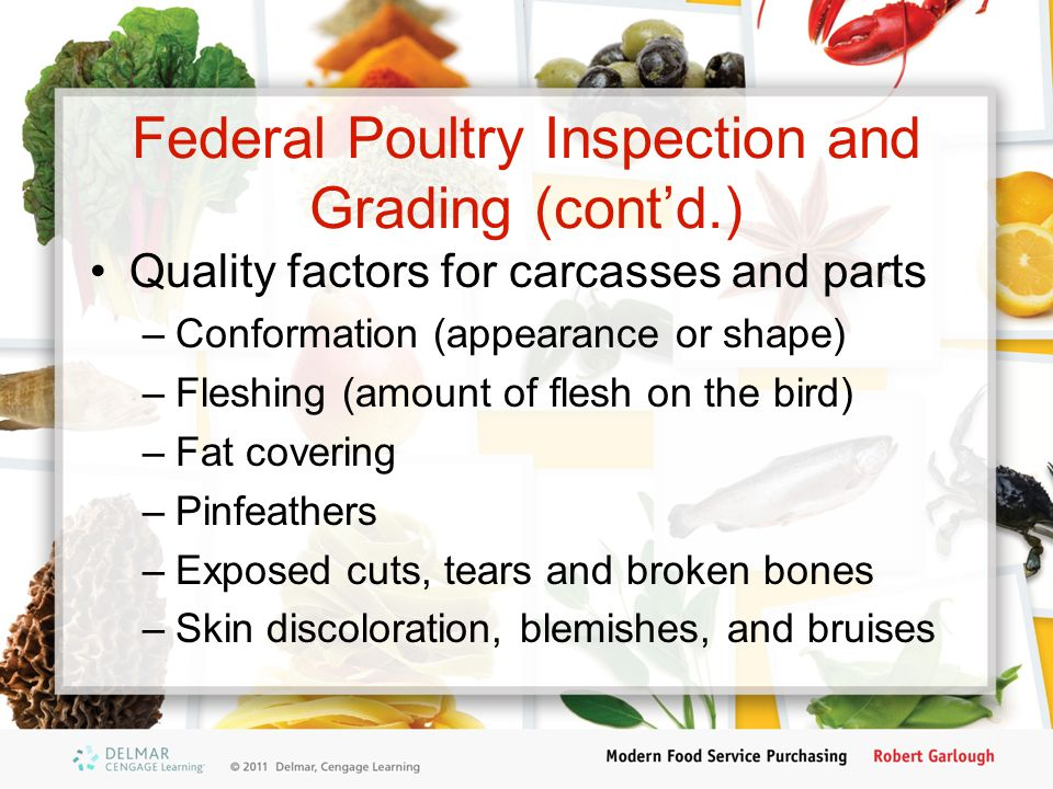 Federal Poultry Inspection and Grading (cont'd.)