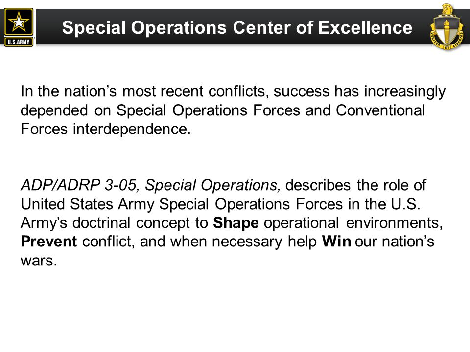Special Operations Center of Excellence