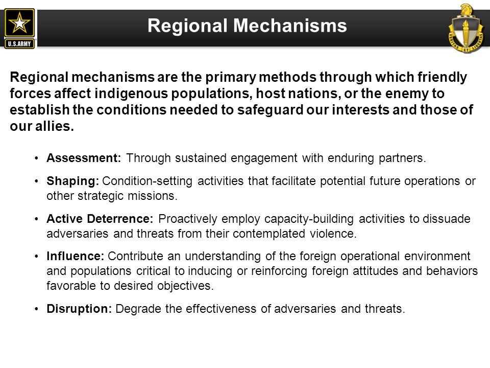 Regional Mechanisms