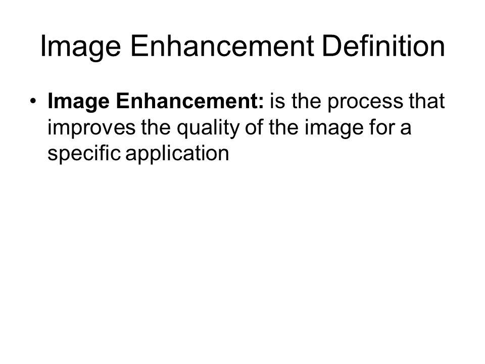 Image Enhancement Definition
