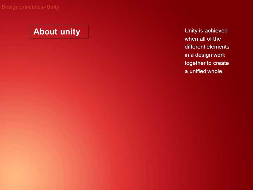 Design principles - Unity