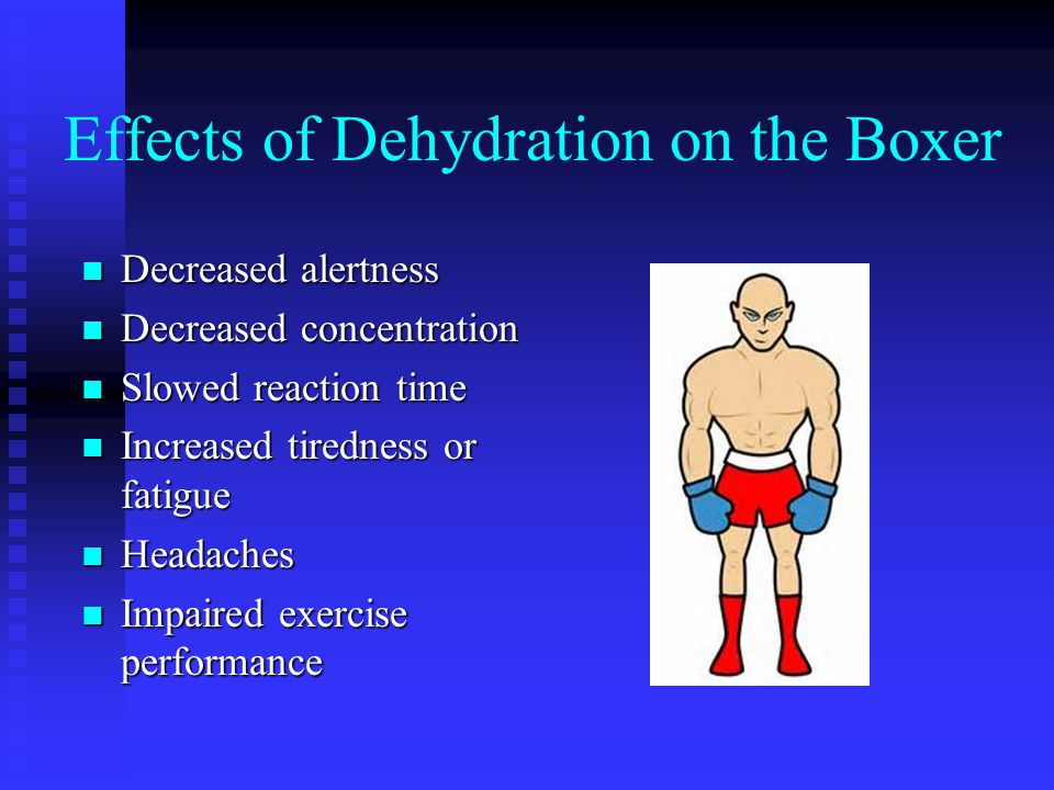 Effects of Dehydration on the Boxer