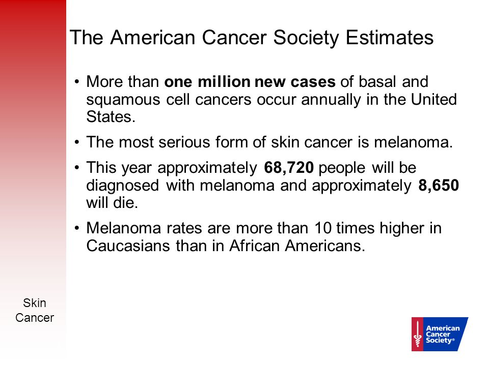 Skin cancer prevention and early detection ppt download the american cancer society estimates toneelgroepblik Images
