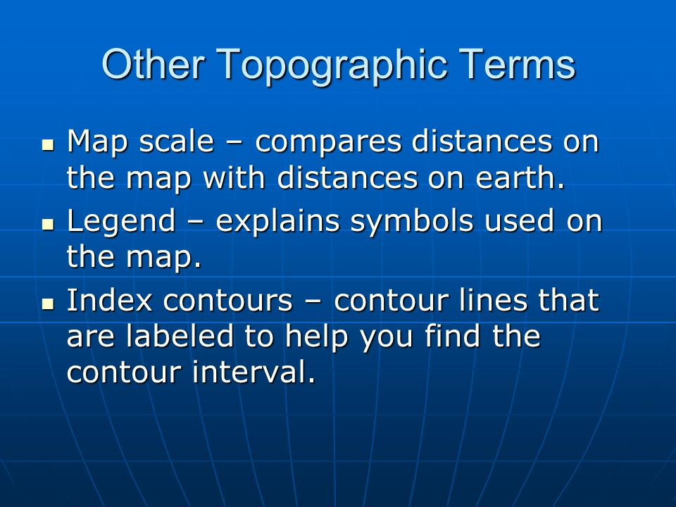 Other Topographic Terms