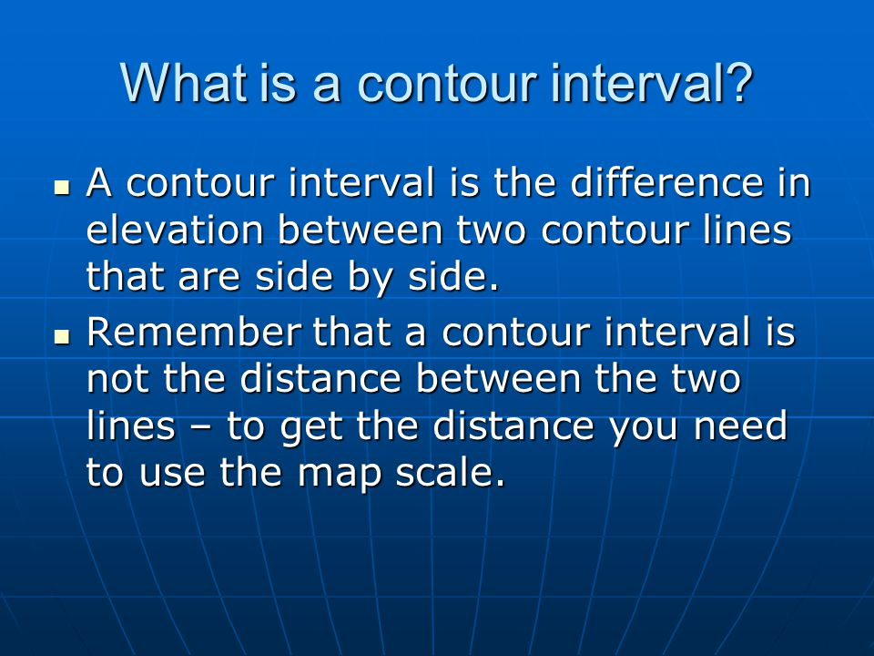 What is a contour interval