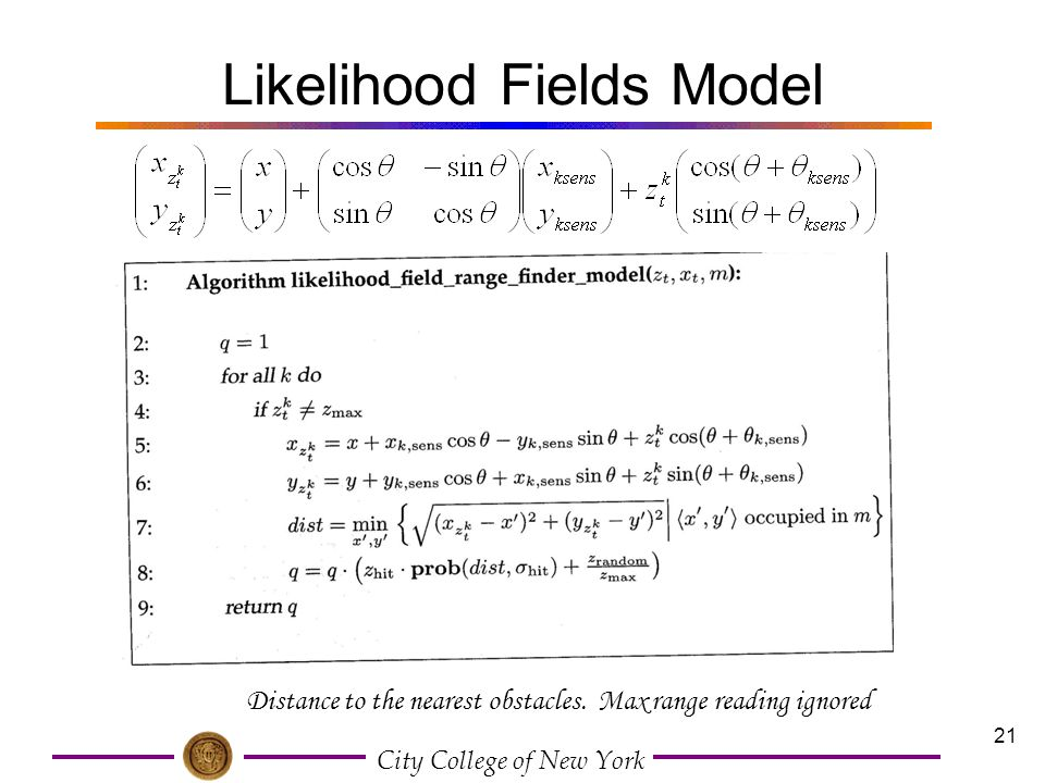 Likelihood Fields Model
