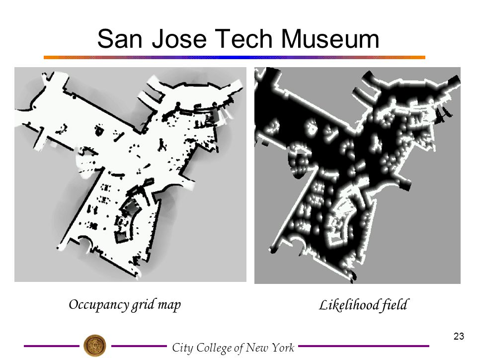 San Jose Tech Museum Occupancy grid map Likelihood field
