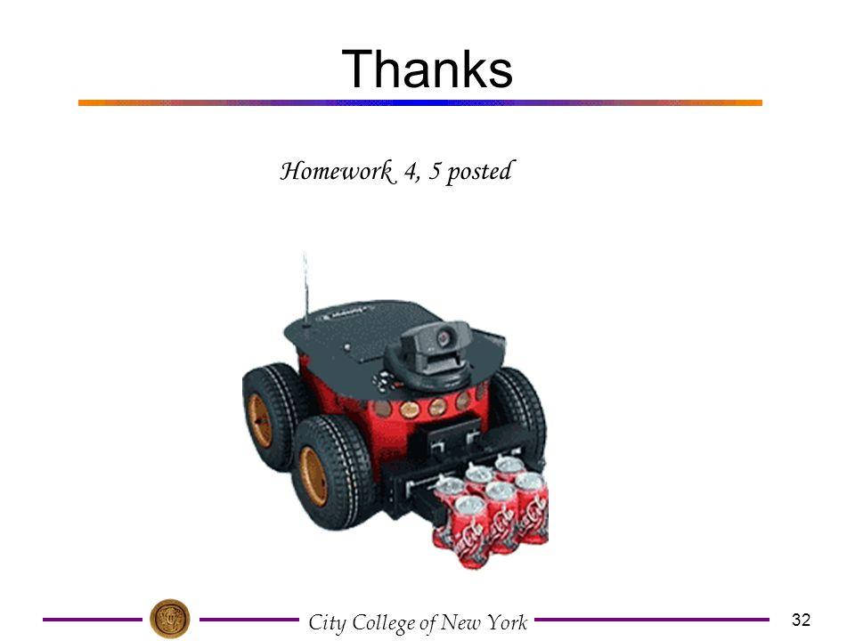 Thanks Homework 4, 5 posted